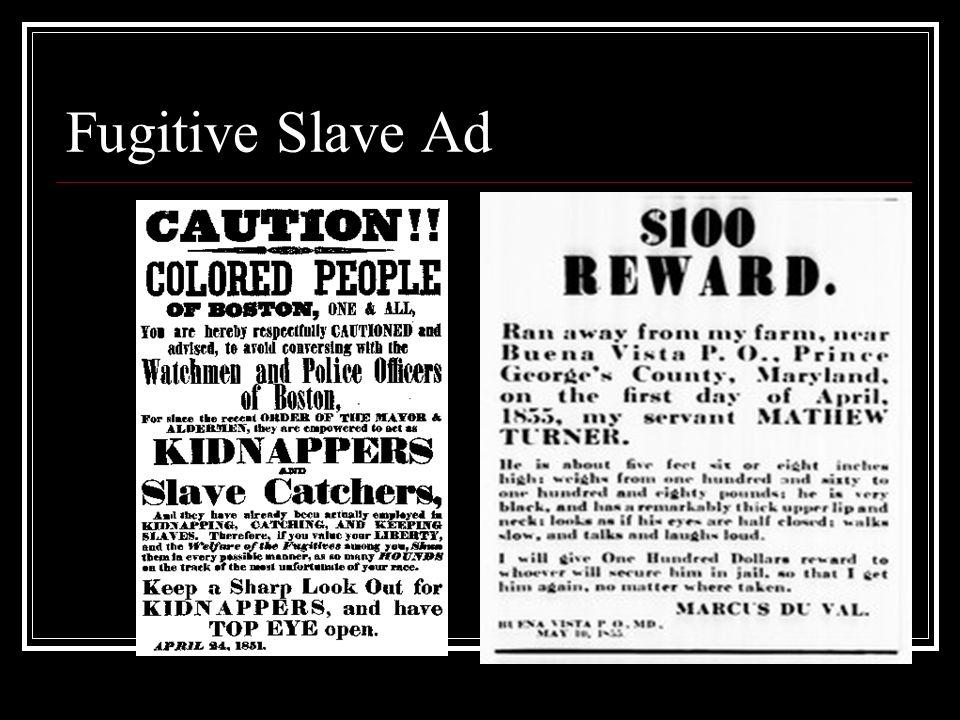 Fugitive Slave Reward