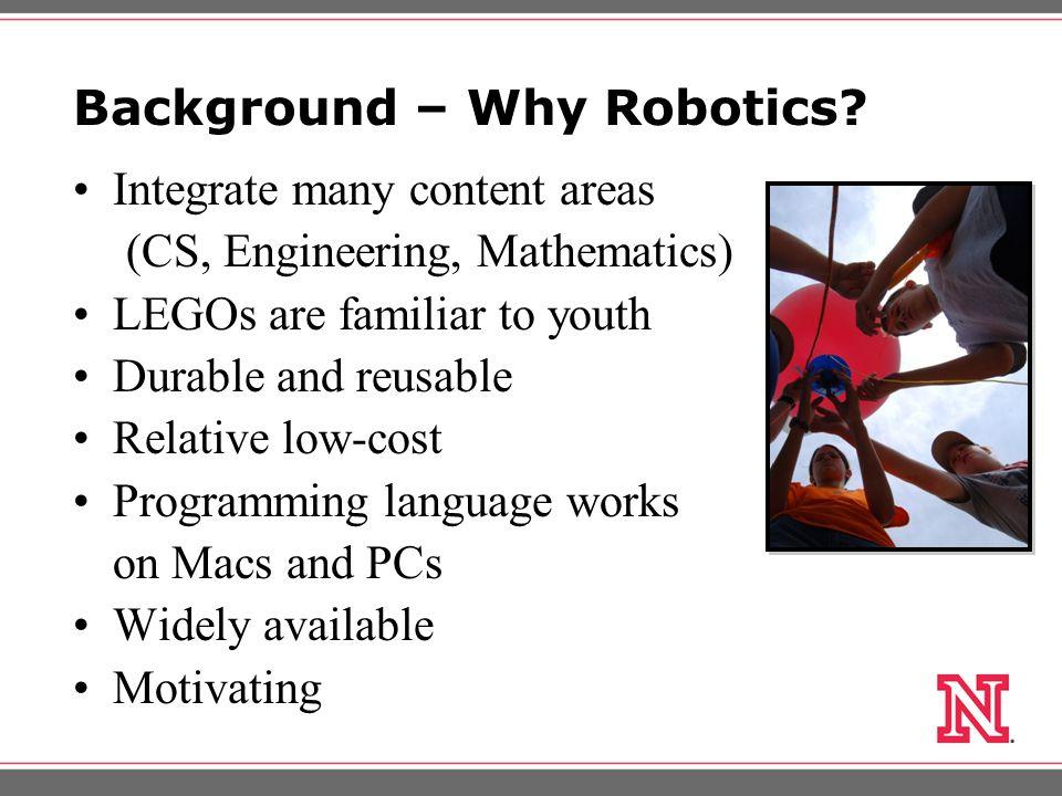 Background – Why Robotics.