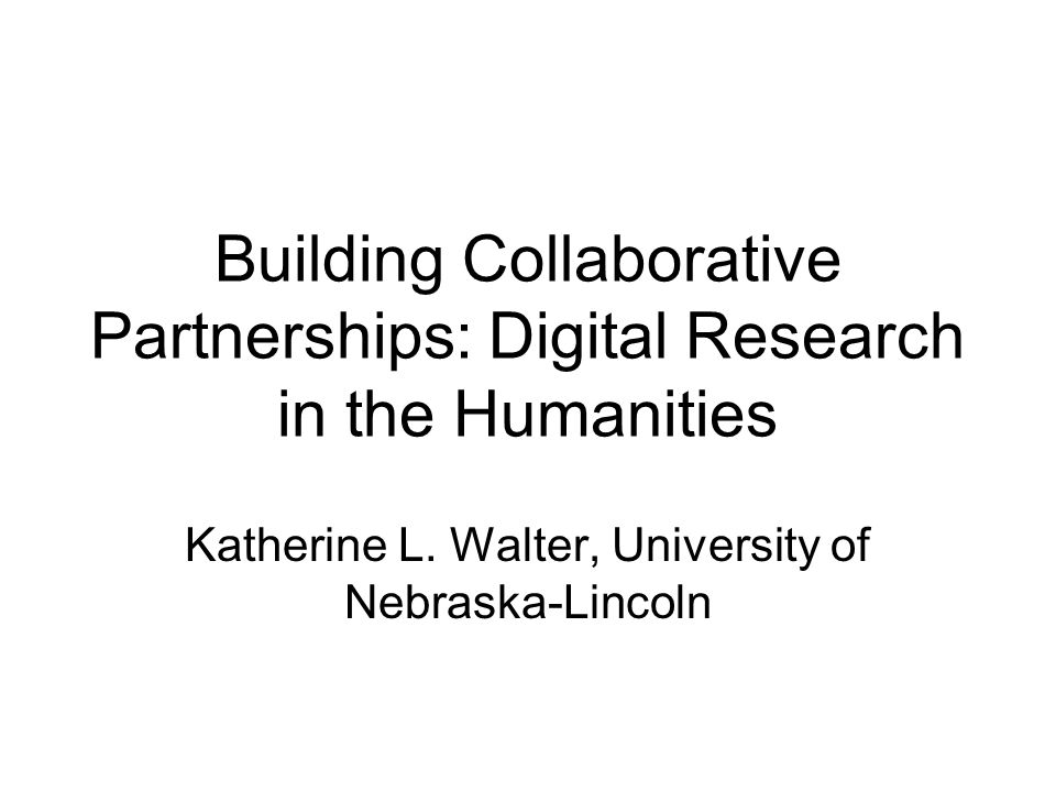The University of Nebraska-Lincoln's Center for Digital Research in the Humanities The Center for Digital Research in the Humanities (CDRH) is a collaborative initiative of the University Libraries and the College of Arts and Sciences.