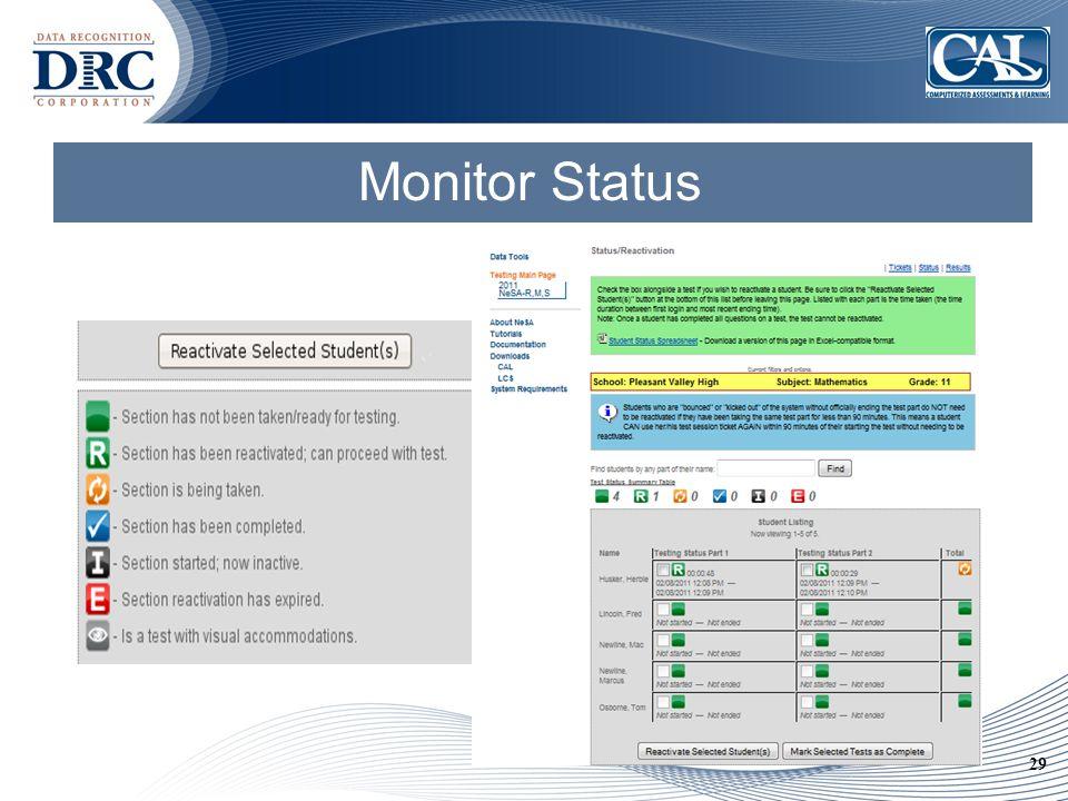 29 Monitor Status