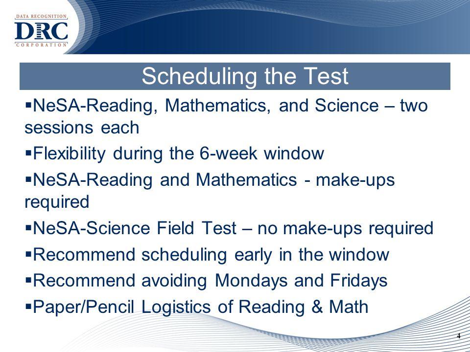 5 Agenda Preparing to Test—Sue & Denise Testing—Chad Tools—Julie Post-Test—Denise