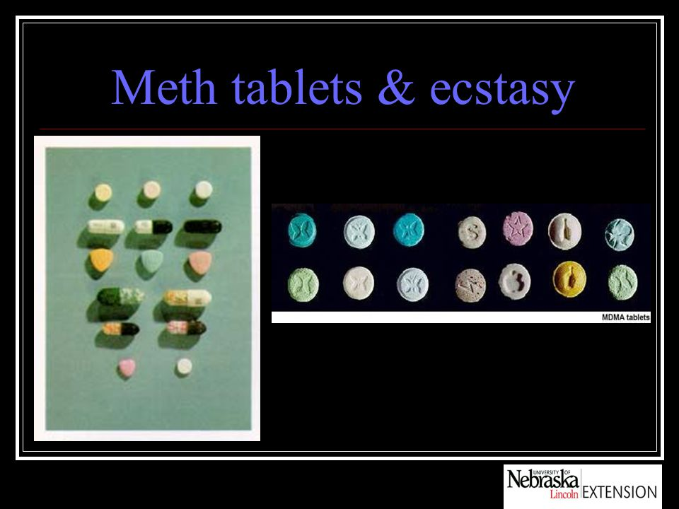 Meth tablets & ecstasy