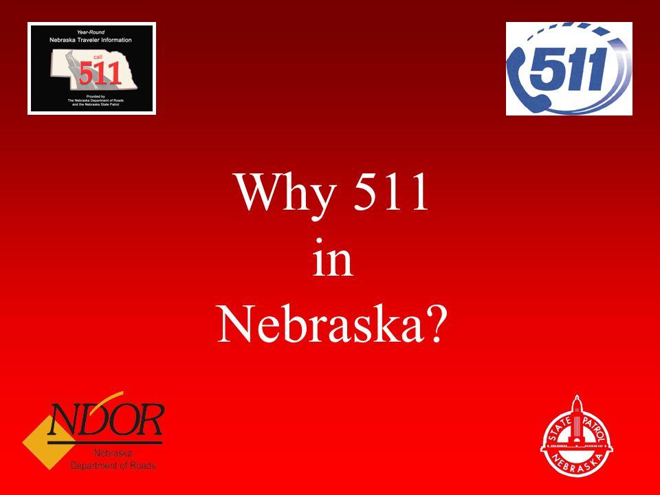 Multi-State Shared Telephony Nebraska's 511 utilizes a shared telephony system with the other #SAFE Advanced Traveler Weather Information System states (North Dakota, South Dakota, Minnesota, and Montana).