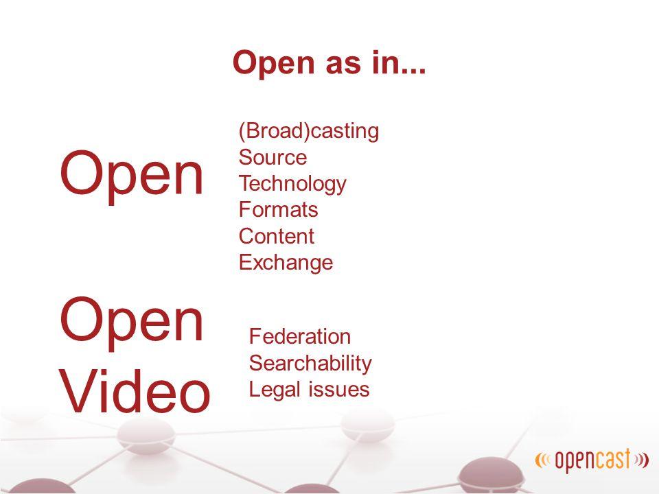 Open as in...