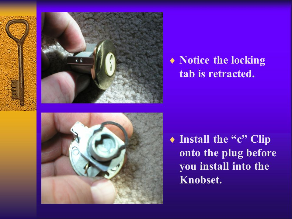  Notice the locking tab is retracted.