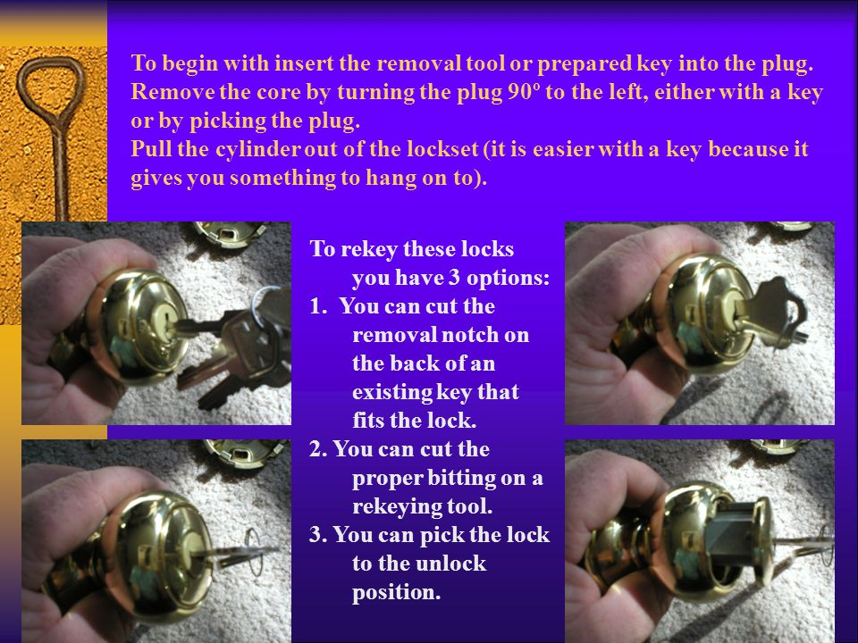  Plug of the lock with the key notice the 1st notch on the key is very close to the shoulder stop.