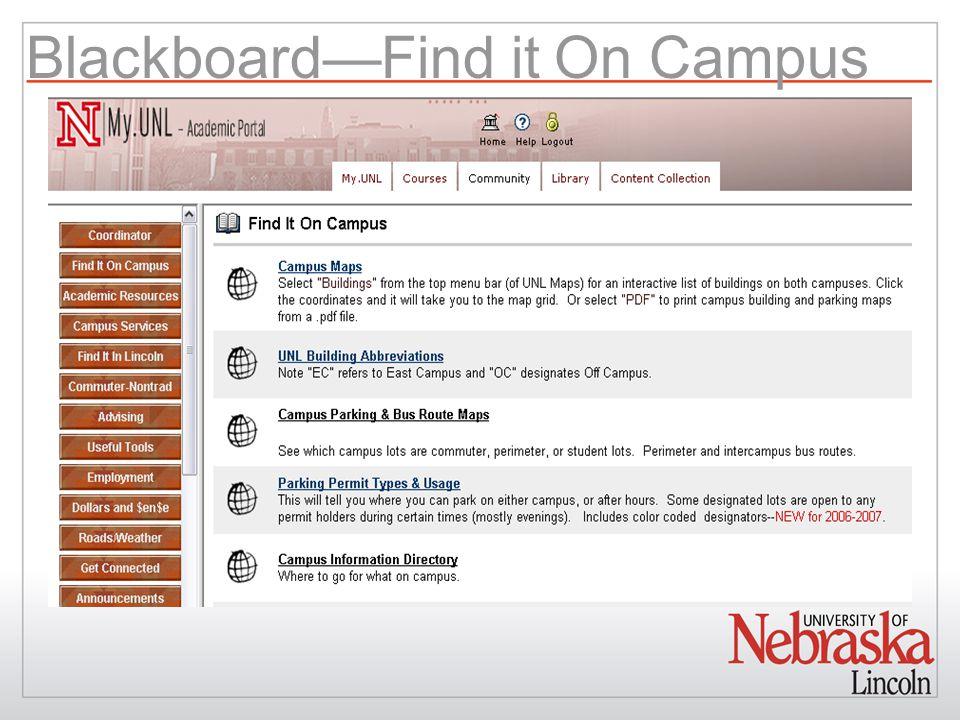 Blackboard—Find it On Campus