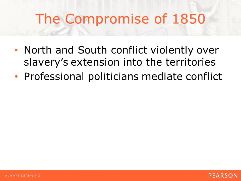 Political Upheaval, 1852–1856 Whigs and Democrats manage controversy in 1850 Sectionalism destroys both parties in 1850s
