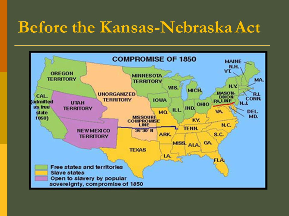Before the Kansas-Nebraska Act