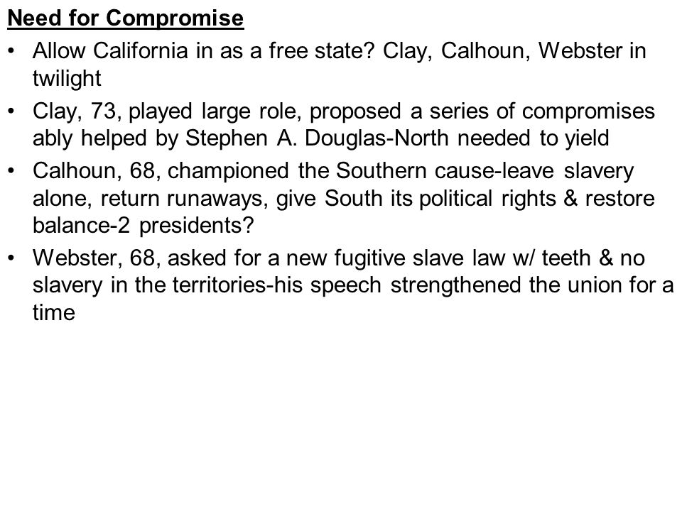 Compromise of 1850-Pg.397 New guard had their say-WH Seward came our vs.