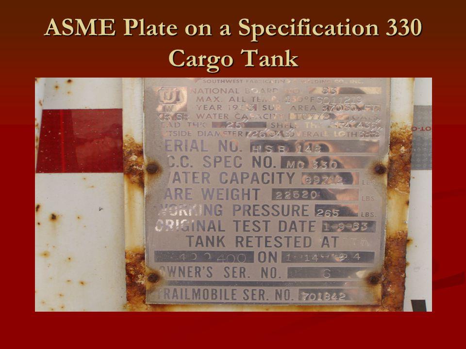 ASME Plate on a Nurse Tank