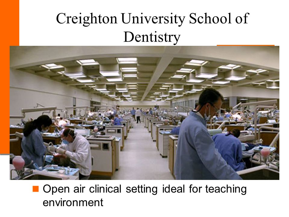 Creighton University School of Dentistry Open air clinical setting ideal for teaching environment