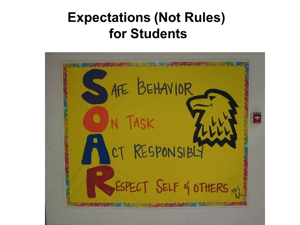 Expectations (Not Rules) for Students