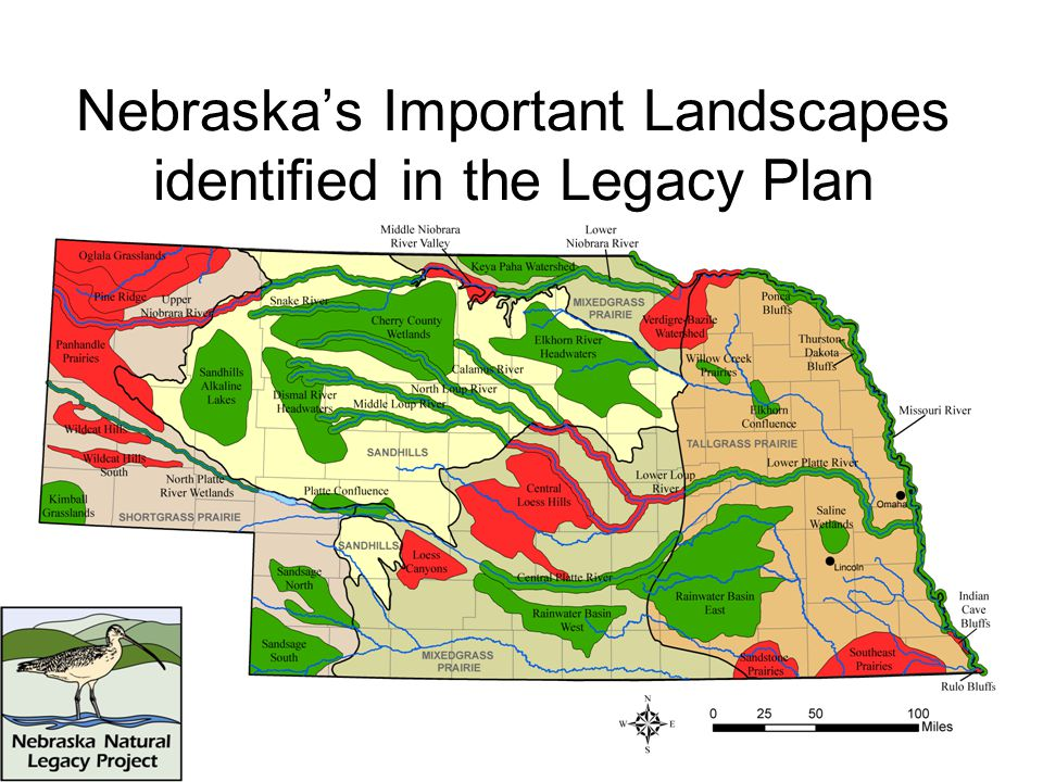 Nebraska's Important Landscapes identified in the Legacy Plan