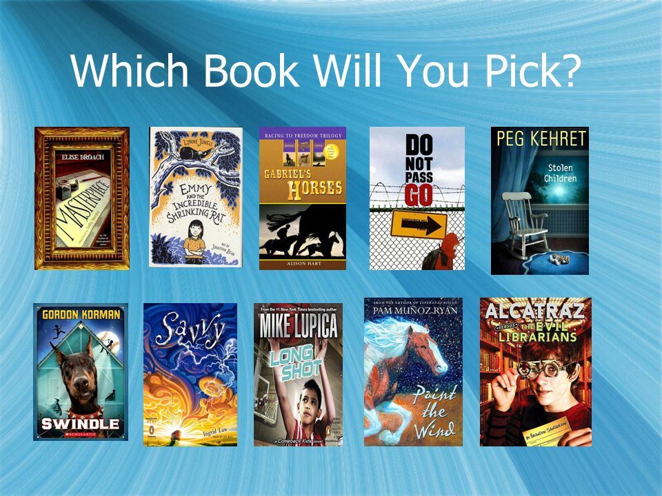 Which Book Will You Pick