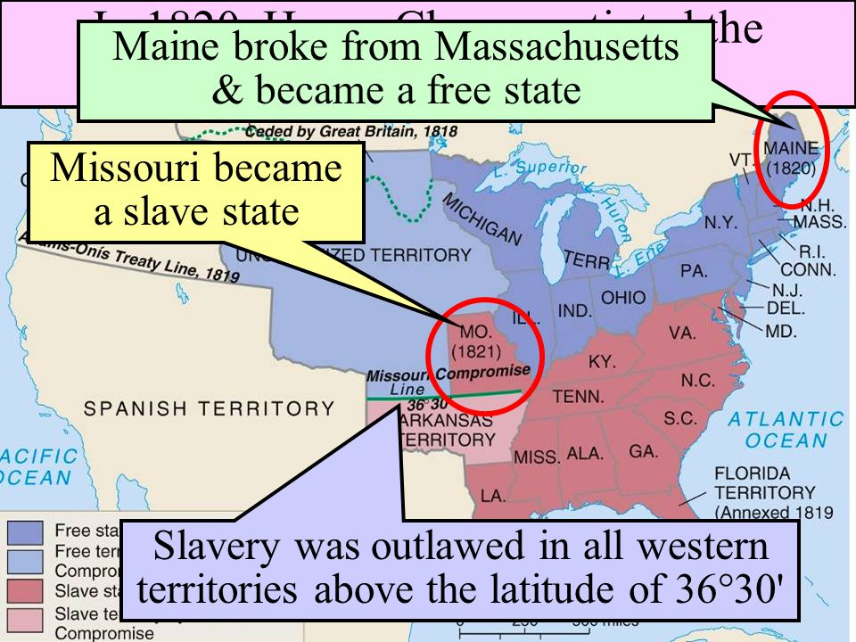 Sectionalism: 1820-1850 ■The first major issue regarding slavery in the antebellum era focused on Missouri becoming a state in 1820: –Northerners & So