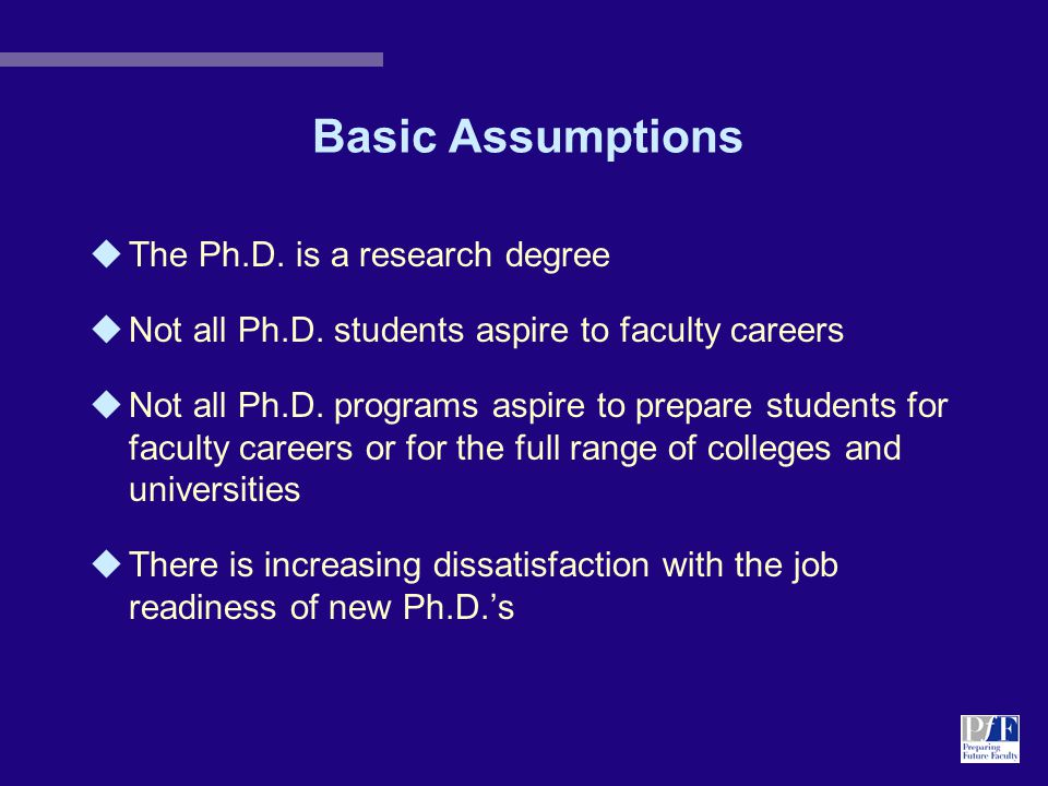 Concepts Doctoral students should...
