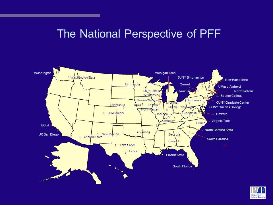 PFF 4 Academic Departments: 1999-2002 Communication HOWARD UNIVERSITY - 4 partners INDIANA UNIVERSITY - 6 partners UNIVERSITY OF KENTUCKY - 4 partners UNIVERSITY OF NEW MEXICO - 4 partners English HOWARD UNIVERSITY - 3 partners MICHIGAN TECHNICAL UNIVERSITY - 5 partners UNIVERSITY OF ILLINOIS AT CHICAGO - 3 partners WASHINGTON STATE UNIVERSITY - 2 partners UNIVERSITY OF SOUTH FLORIDA - 3 partners History ARIZONA STATE UNIVERSITY - 4 partners BOSTON COLLEGE - 3 partners FLORIDA STATE UNIVERSITY - 4 partners HOWARD UNIVERSITY - 3 partners