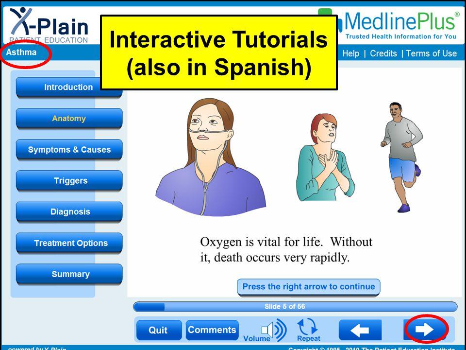 Interactive Tutorials (also in Spanish)