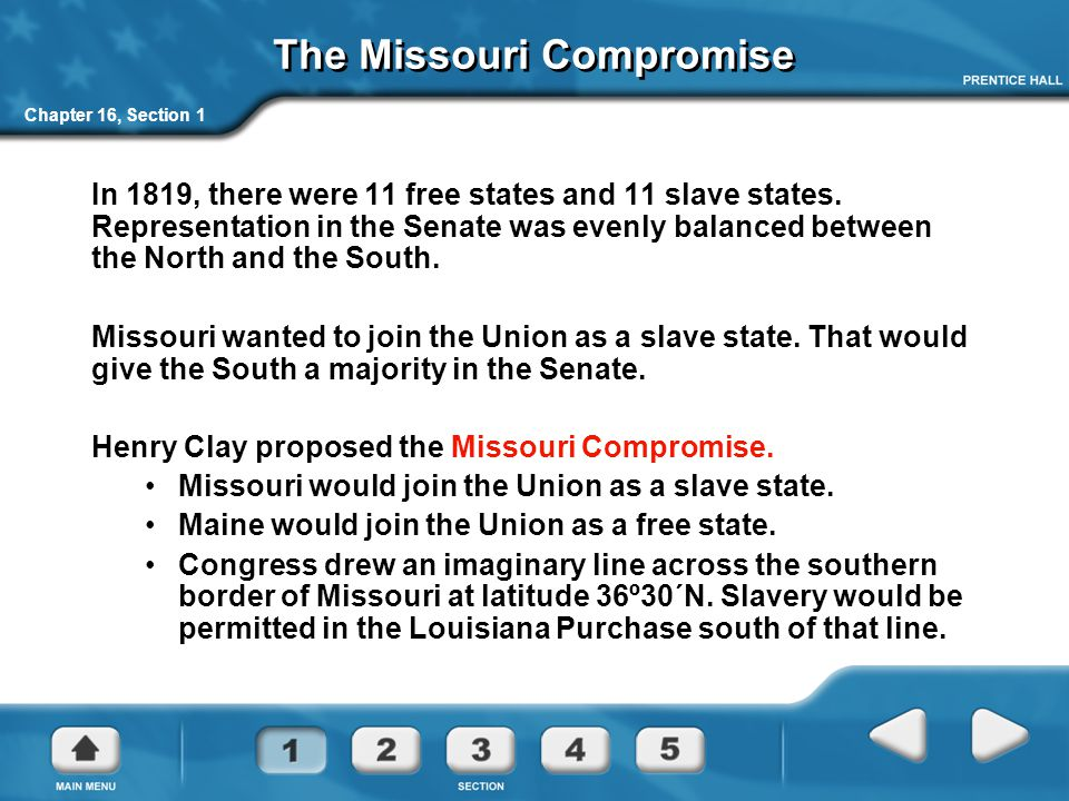 Chapter 16, Section 2 The Compromise of 1850 Compromise of 1850 Settles Texas/New Mexico border dispute Bans slave trade in Washington, D.C.