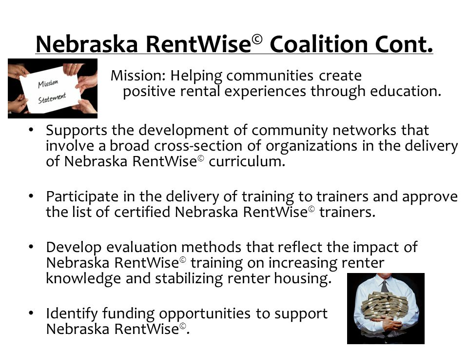 Nebraska Housing Developers Association Builds awareness about the value and availability of Nebraska RentWise ©.