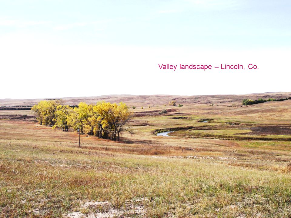 Valley landscape – Lincoln, Co.