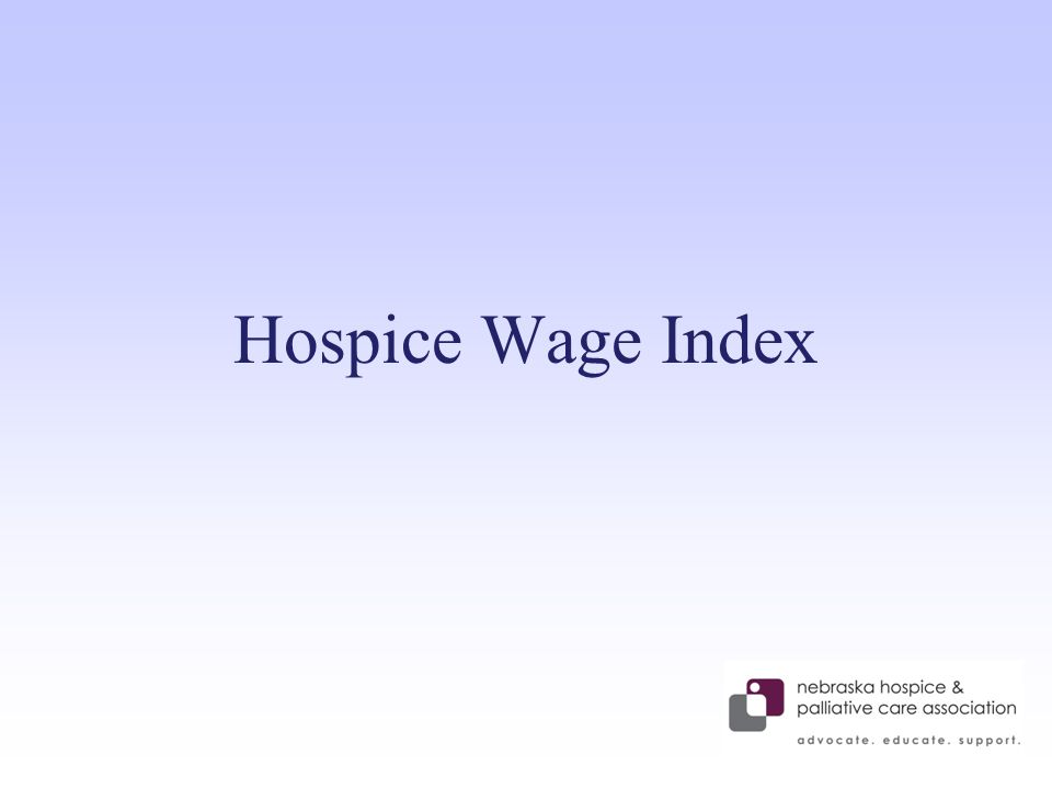 Hospice Wage Index