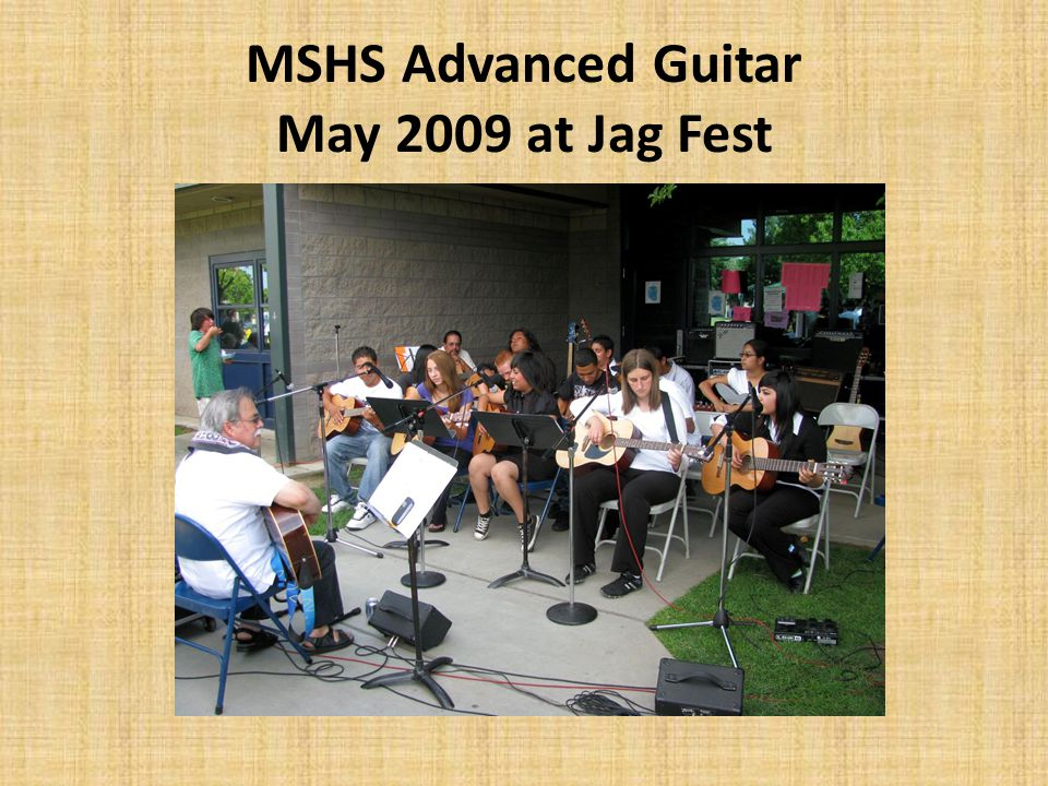 MSHS Advanced Guitar May 2009 at Jag Fest