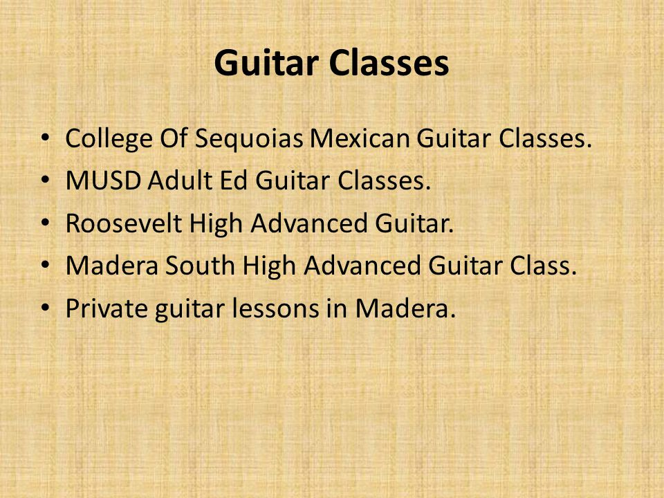 Guitar Classes College Of Sequoias Mexican Guitar Classes.