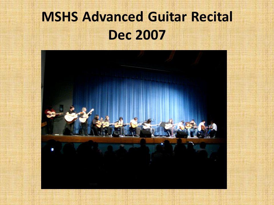 MSHS Advanced Guitar Recital Dec 2007