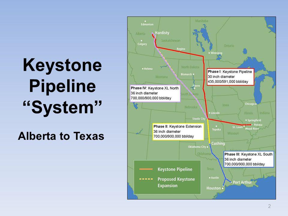 "Keystone Pipeline ""System"" 2 Alberta to Texas"