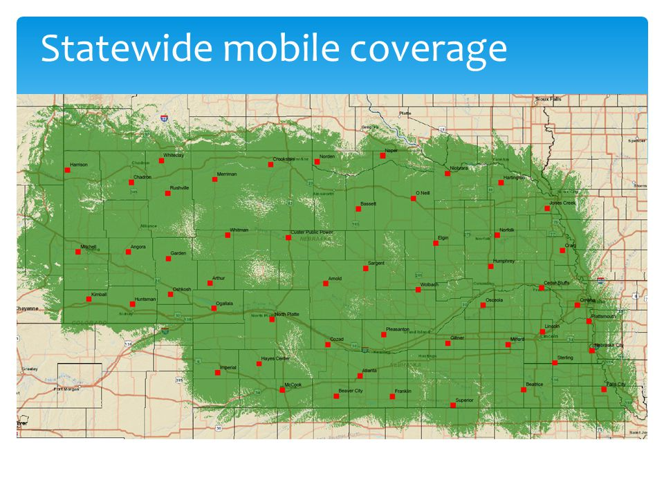 Statewide mobile coverage