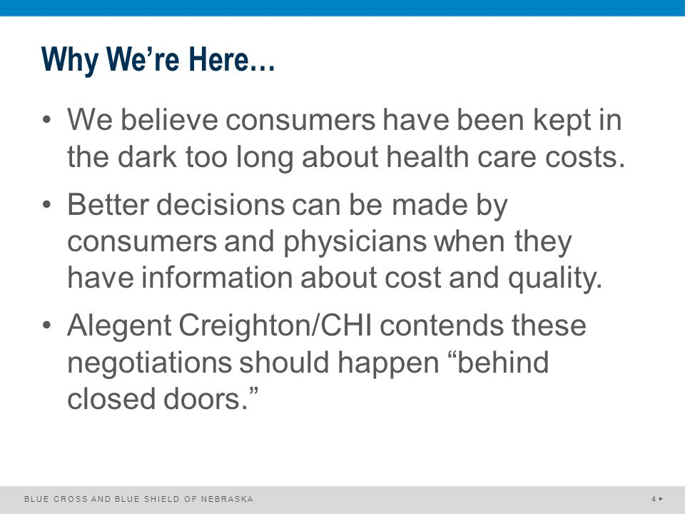 Why We're Here… We believe consumers have been kept in the dark too long about health care costs. Better decisions can be made by consumers and physic