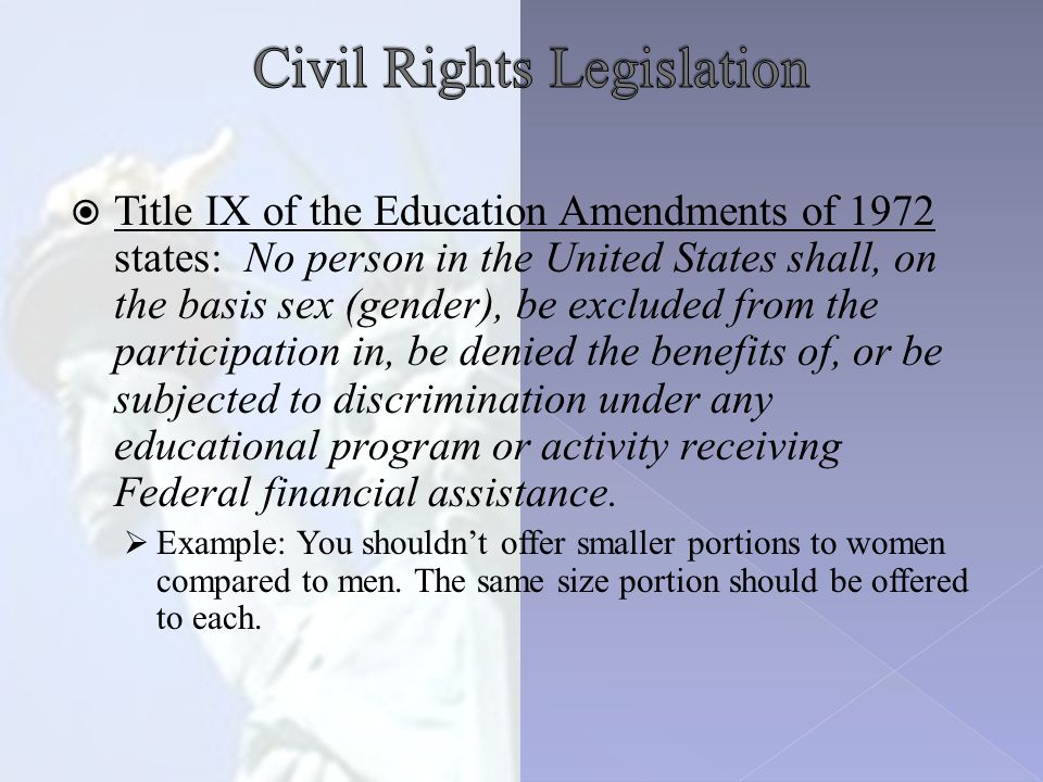  Section 504 of the Rehabilitation Act of 1973 added disability to Title VI.
