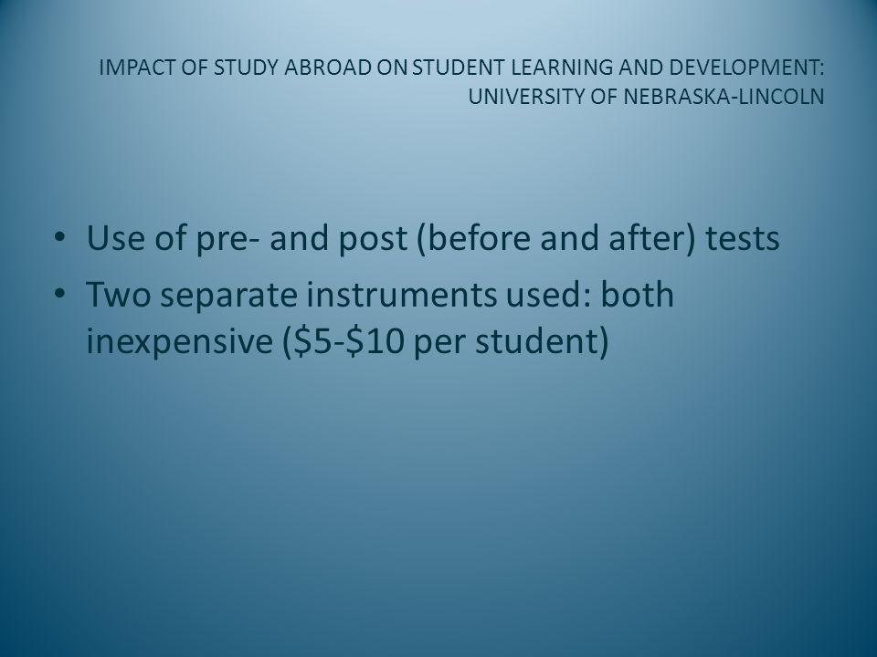 IMPACT OF STUDY ABROAD ON STUDENT LEARNING AND DEVELOPMENT: UNIVERSITY OF NEBRASKA-LINCOLN – Intercultural Developmental Inventory (IDI) (Dr.