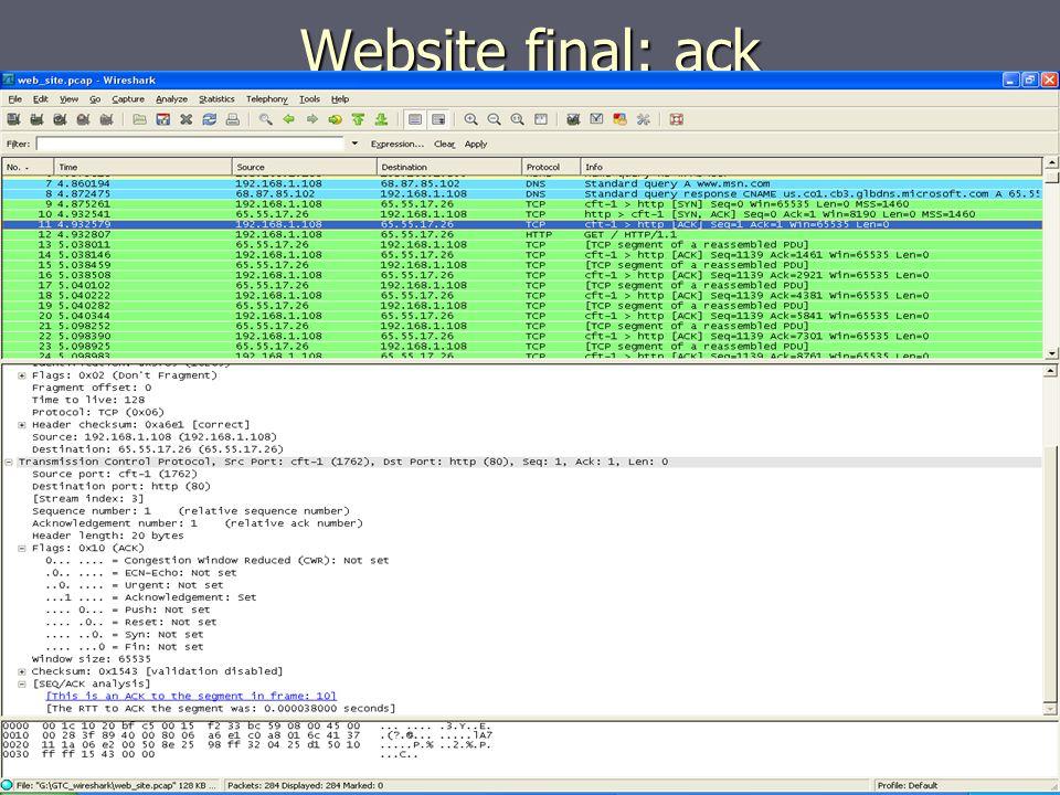 Website final: ack