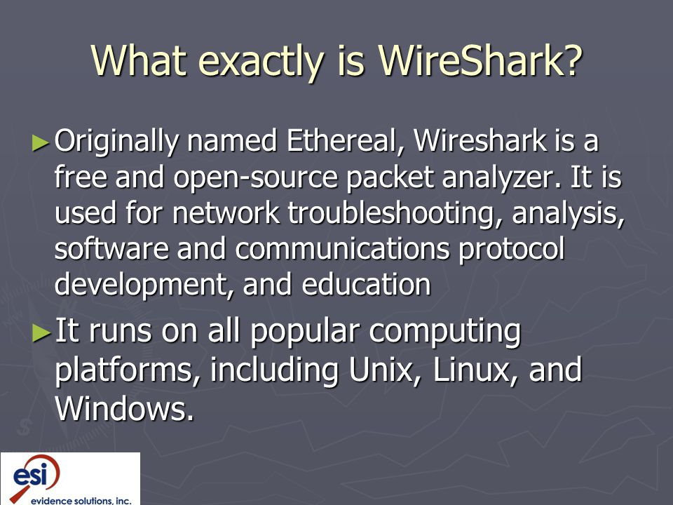 What exactly is WireShark.