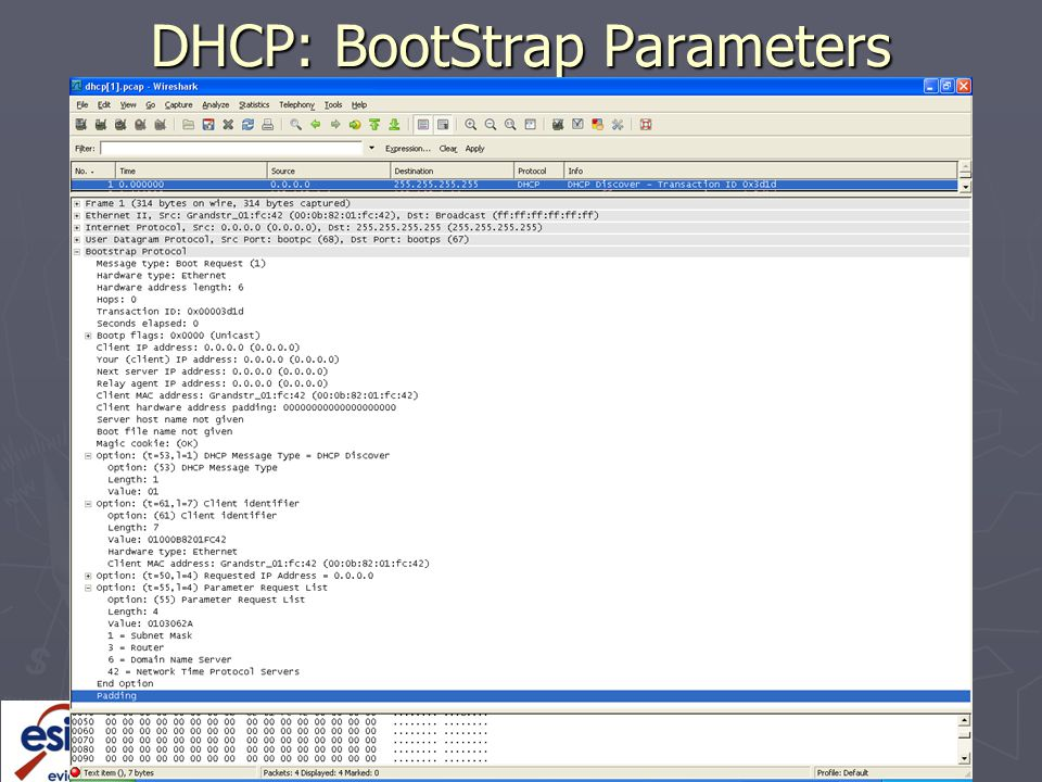 DHCP: BootStrap Parameters