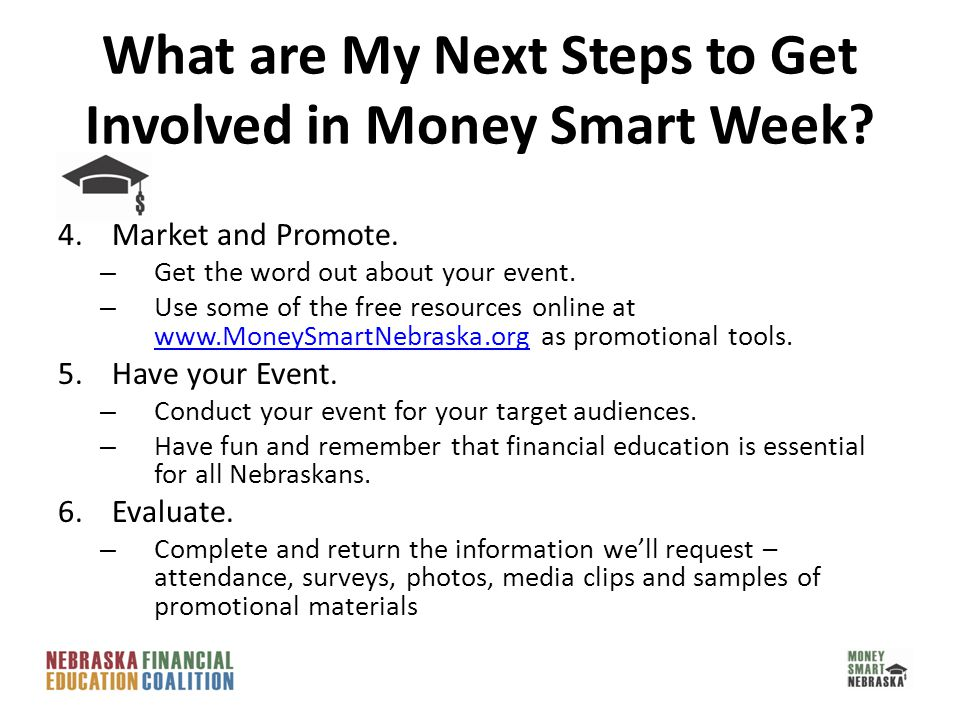 4.Market and Promote. – Get the word out about your event.