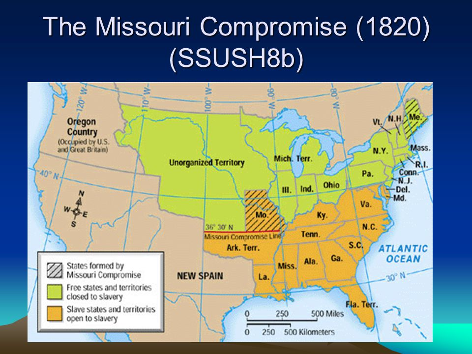 The Missouri Compromise (1820) (SSUSH8b)