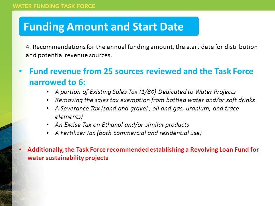 Funding Amount and Start Date 4.