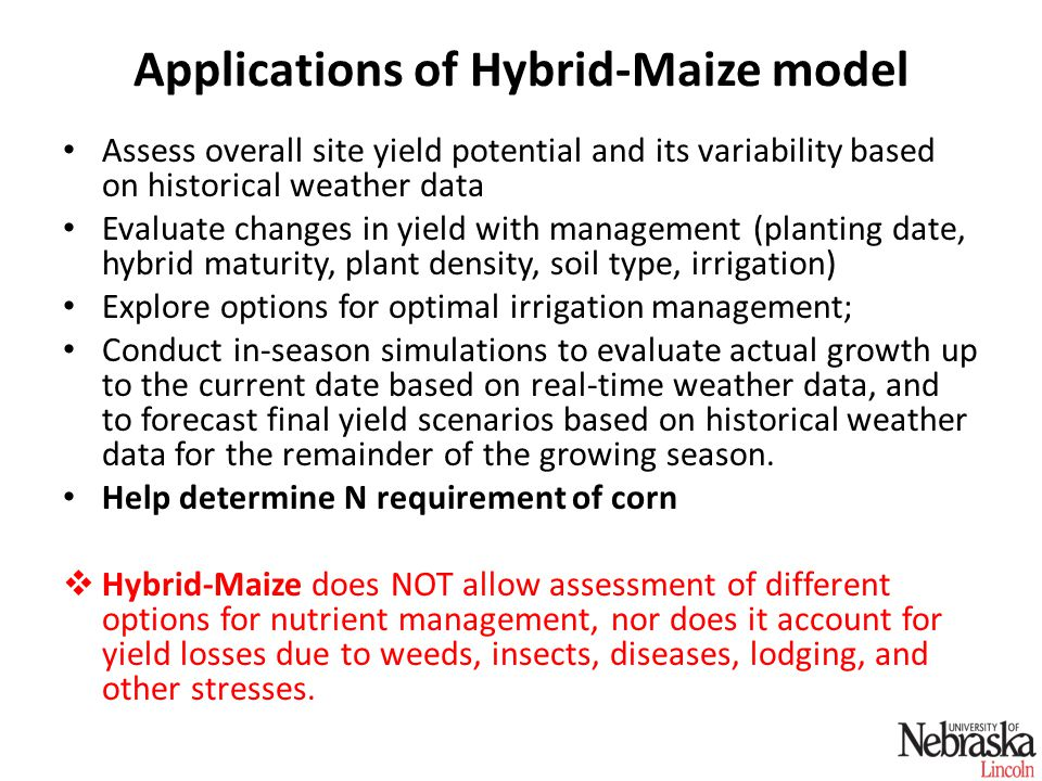 HM simulation of corn LAI under irrigated and water stress conditions: Mead, NE, 2005