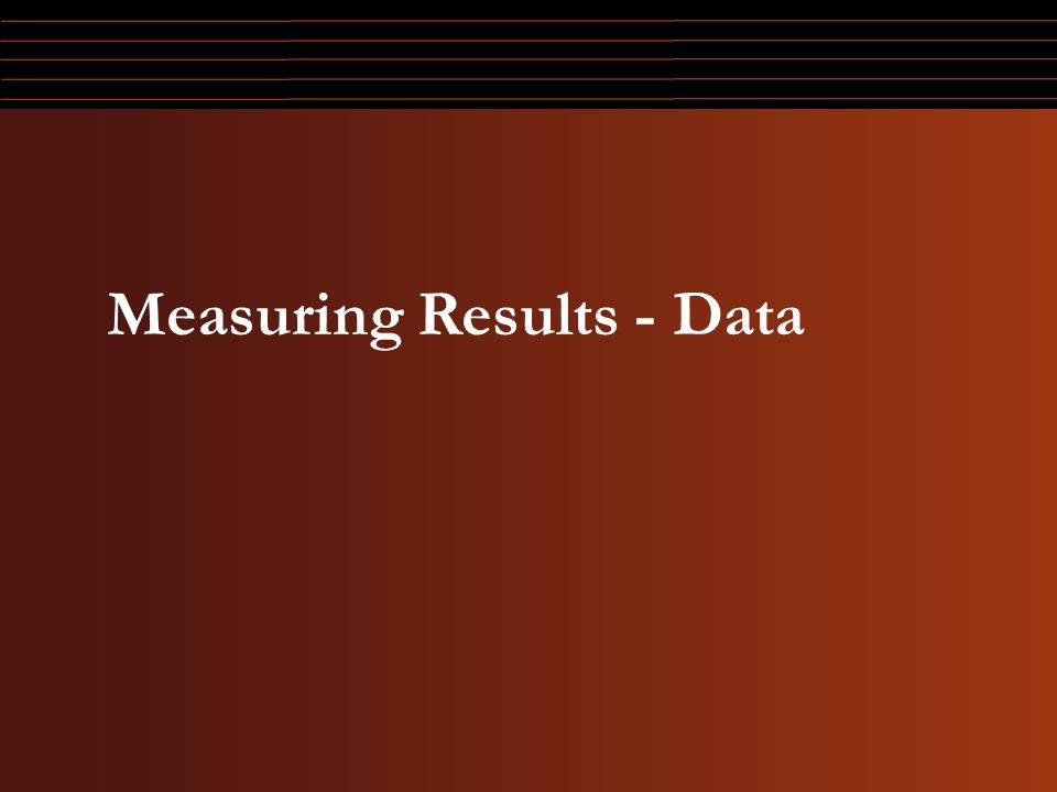 Measuring Results - Data