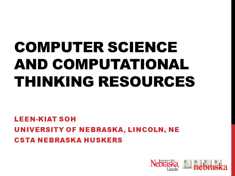 ACKNOWLEDGMENTS CSTA Nebraska Huskers local chapter Google's Phil Wagner NCWIT's Academic Alliance Department of Computer Science and Engineering, University of Nebraska, Lincoln, NE National Science Foundation Tapestry Workshop's Joanne and Jim Cohoon, University of Virginia Renaissance Computing @ UNL IC2Think @ UNL Center for Computational Creativity @ UNL 22