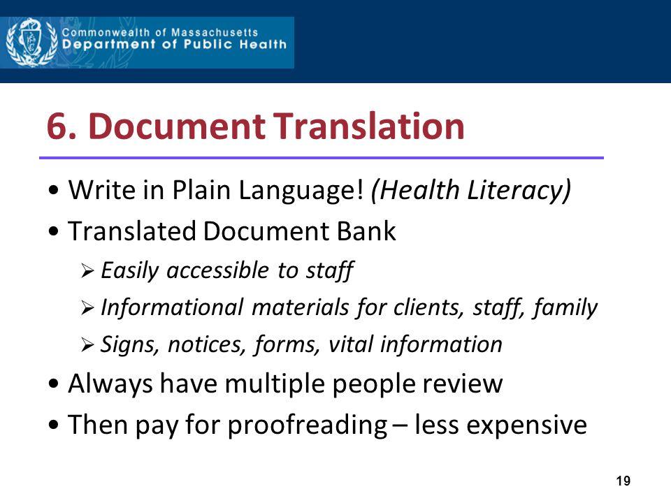 6. Document Translation Write in Plain Language.