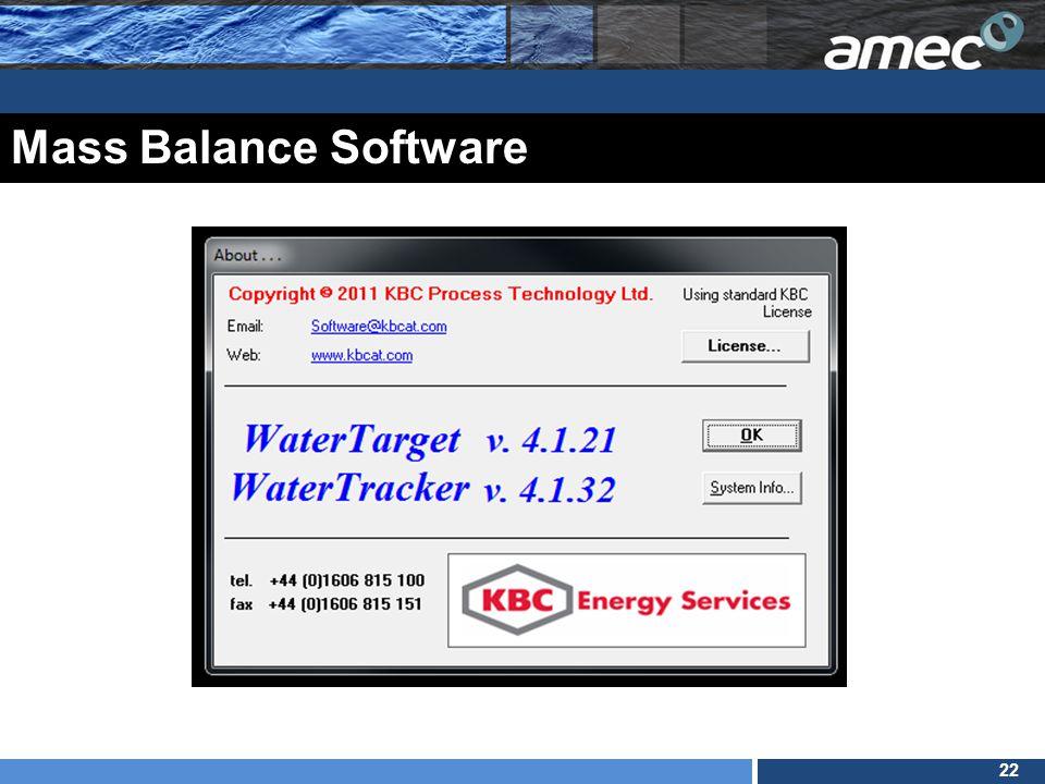 22 Mass Balance Software