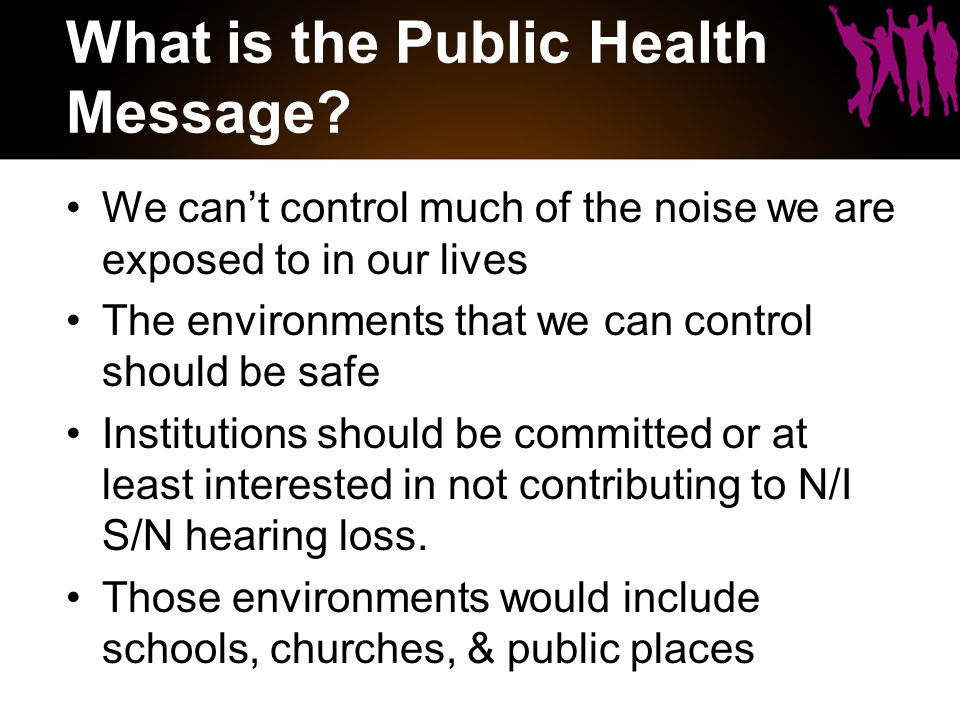 What is the Public Health Message.