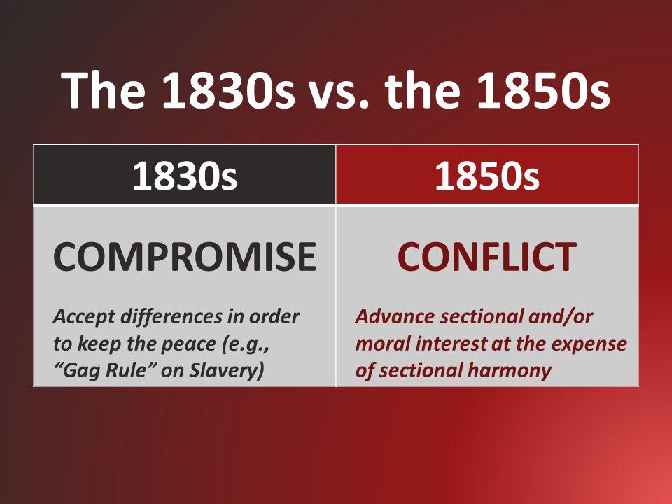 The 1830s vs.