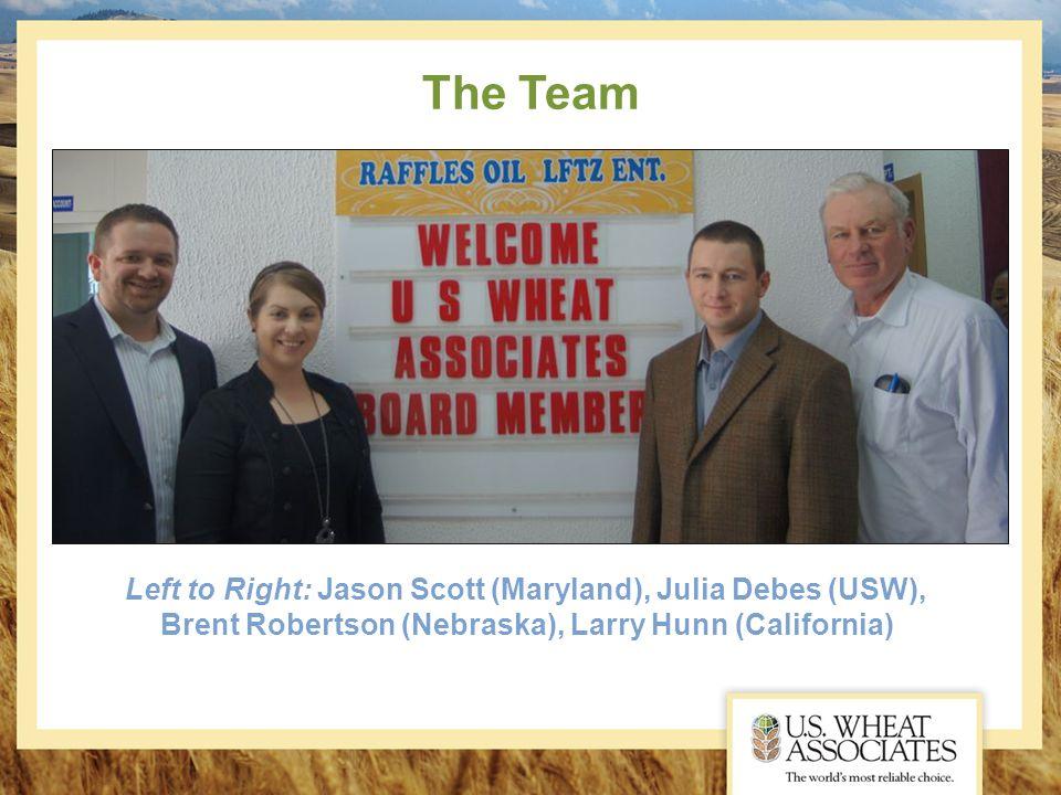 The Team Left to Right: Jason Scott (Maryland), Julia Debes (USW), Brent Robertson (Nebraska), Larry Hunn (California)