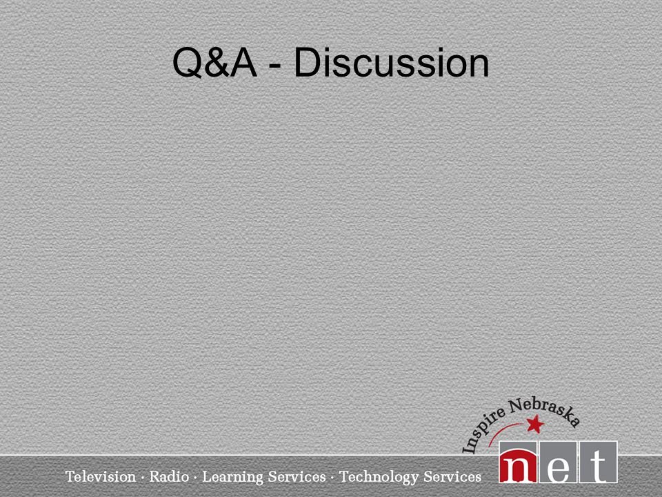 Q&A - Discussion